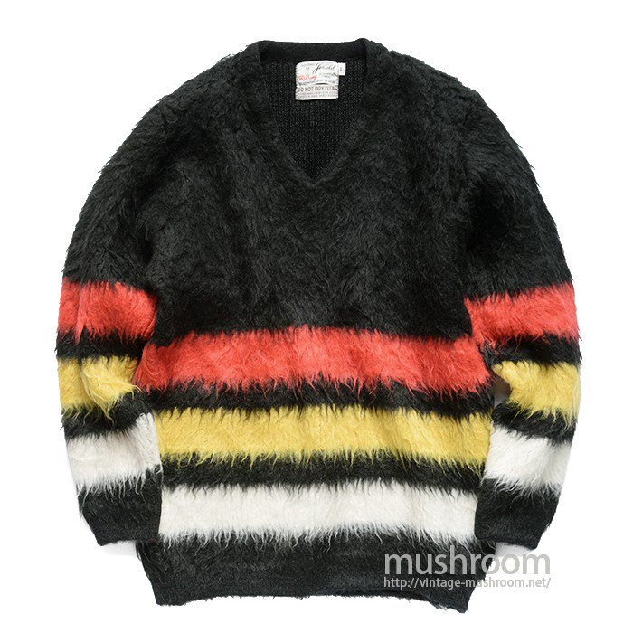 JERSILD BORDER STRIPE V-NECK SWEATER