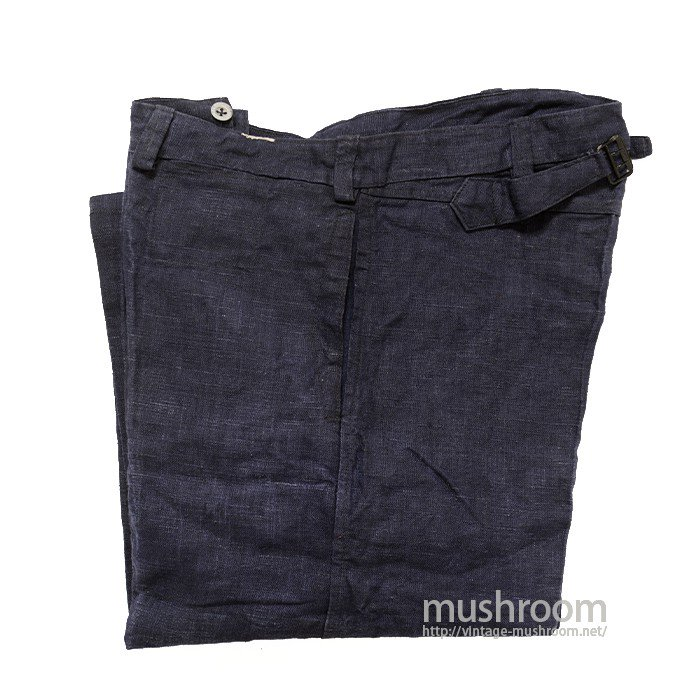 FRENCH INDIGO LINEN WORK PANTS( DEADSTOCK )