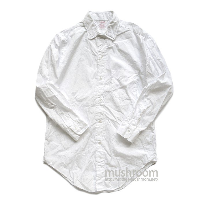 BROOKS BROS WHITE COTTON SHIRT