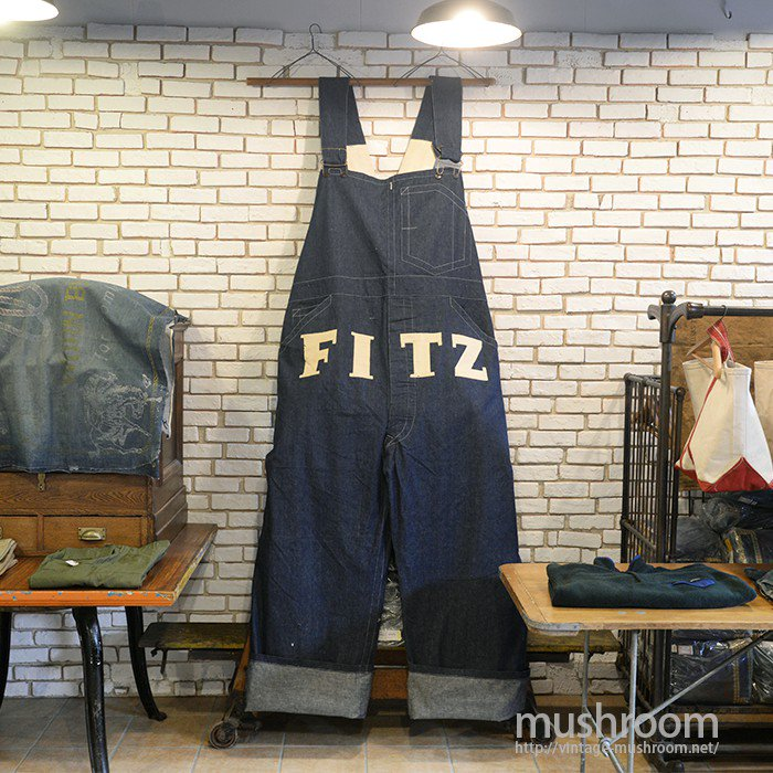FITZ ADVERTISING DENIM OVERALL