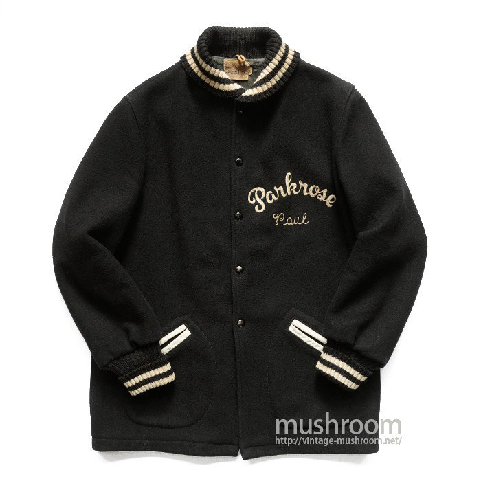 OLD BLACK WOOL STUDIUM JACKET