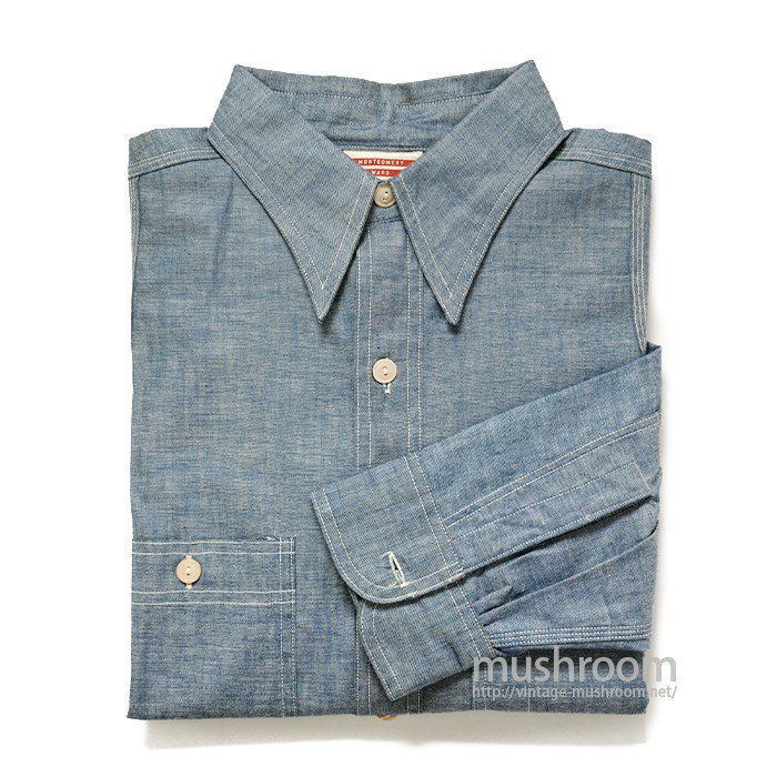 MW CHAMBRAY SHIRT WITH VENTILATION HOLE( 15 1/2/DEADSTOCK )