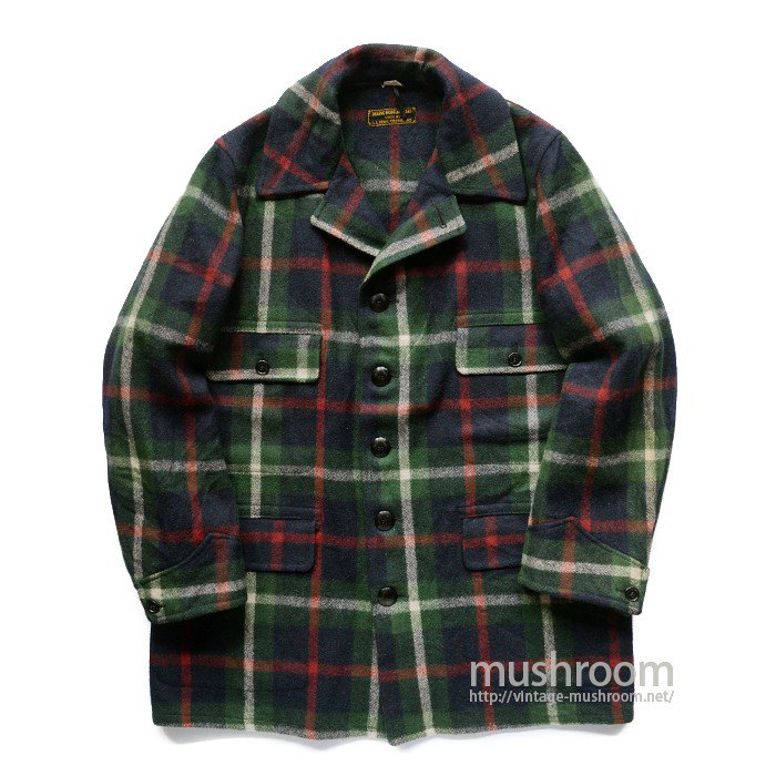 L.L.BEAN PLAID HUNTING WOOL COAT( 46/MINT )