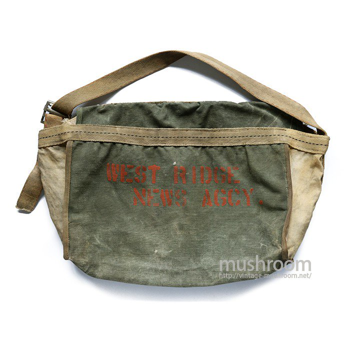 OLD TWO-TONE NEWSPAPER BAG
