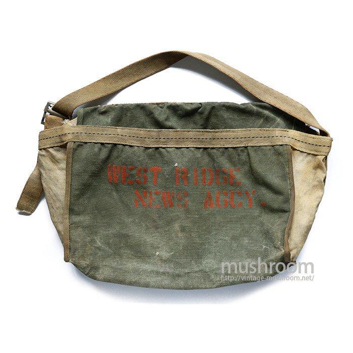 OLD TWO-TONE NEWSPAPER BAG