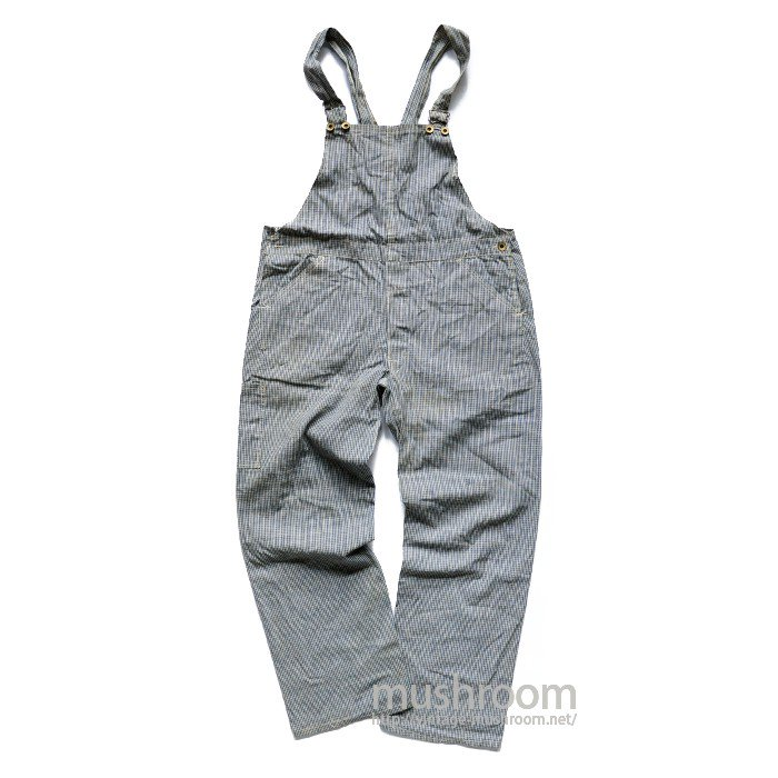 BABCOCK&SMANNON CO GINGHAM-CHECK OVERALL( DEADSTOCK )