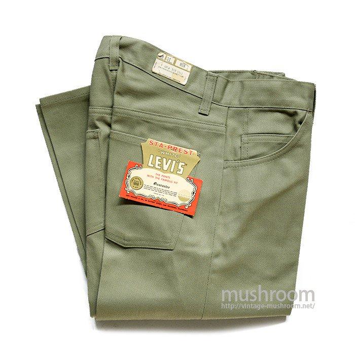 LEVI'S 518 BIGE STA-PREST PANTS( W29/L31/DEADSTOCK )