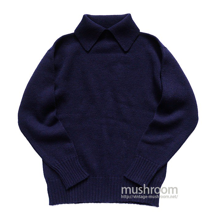 BRAEMAR NAVY PLAIN SWEATER( MINT )