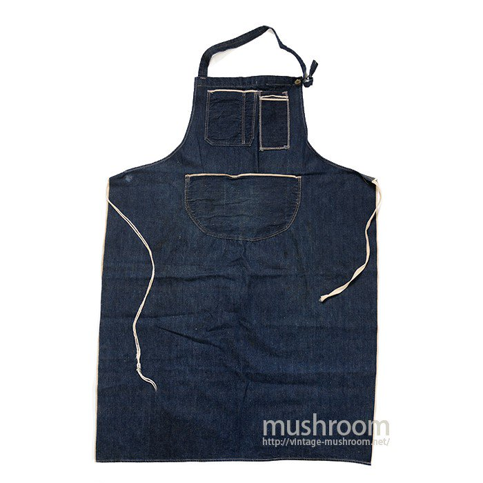OLD DENIM WORK APRON( DORAEMON POCKET )