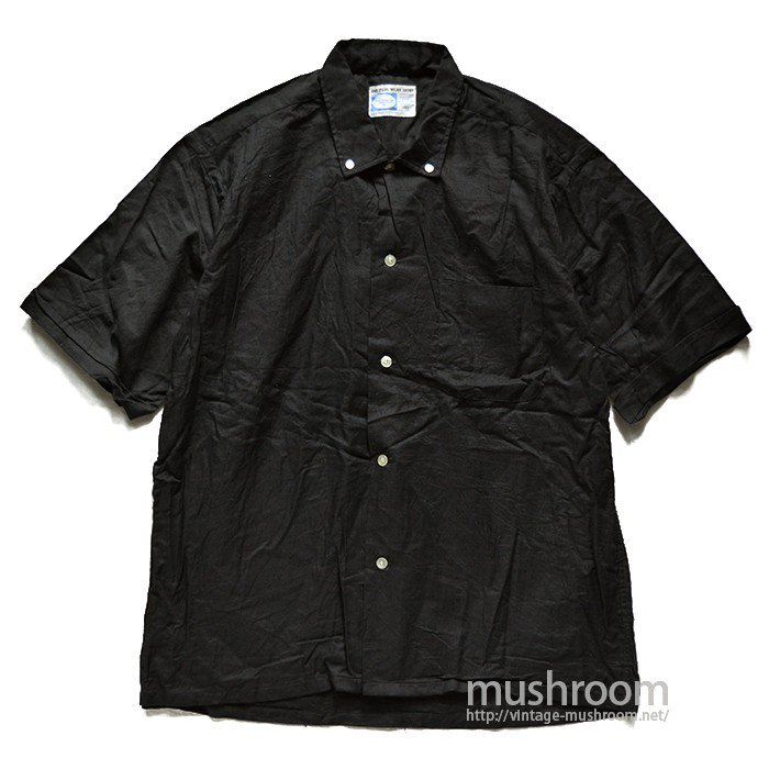 PILGRIM BLACK COTTON S/S BD SHIRT( 16 1/2/DEADSTOCK )