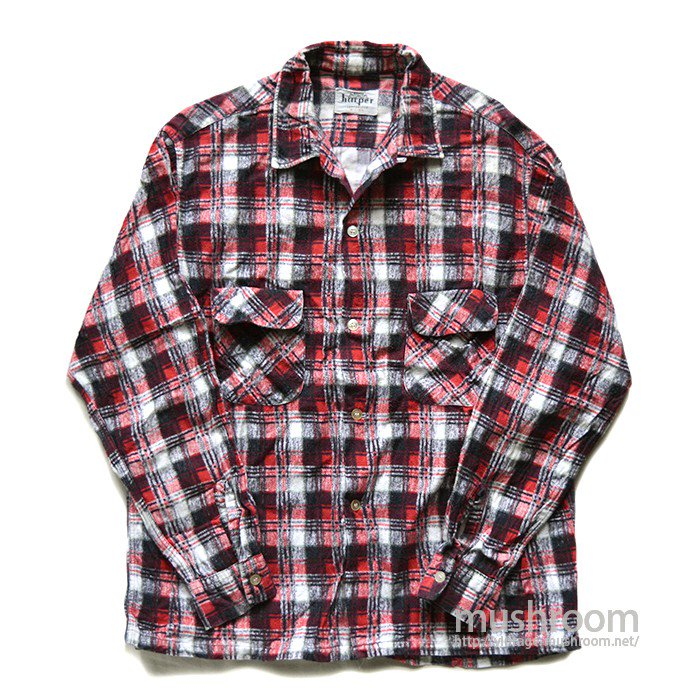 HARPER PLAID PRINT FLANNEL SHIRT