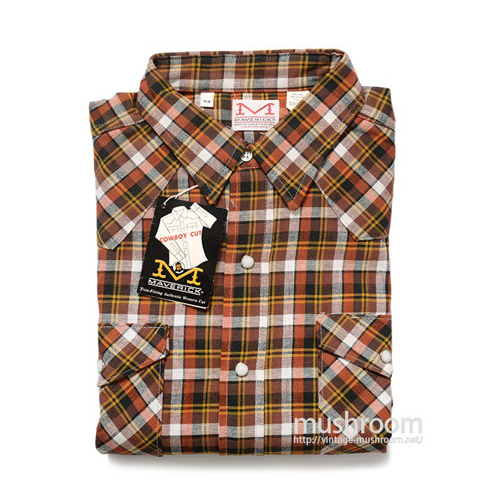 MAVERICK PLAID COTTON WESTERN SHIRT ( 16/DEADSTOCK )