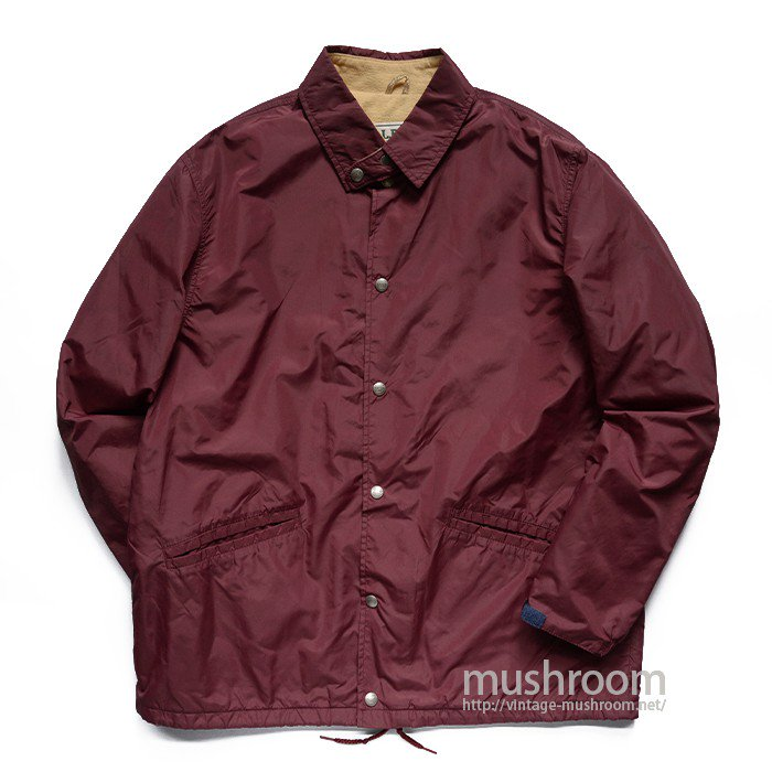 L.L.BEAN NYLON COACH JACKET WITH CHINSTRAP