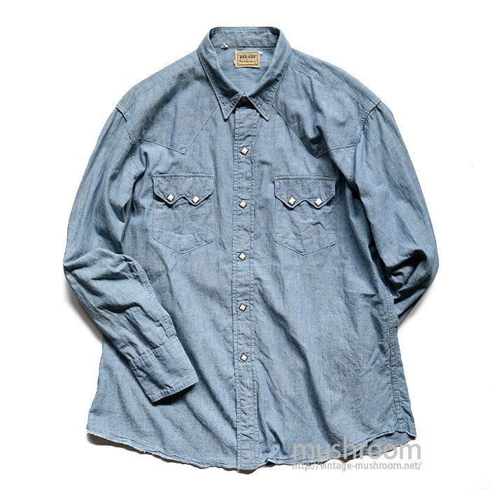 DEECEE CHAMBRAY WESTERN SHIRT( 16 1/2/MINT )