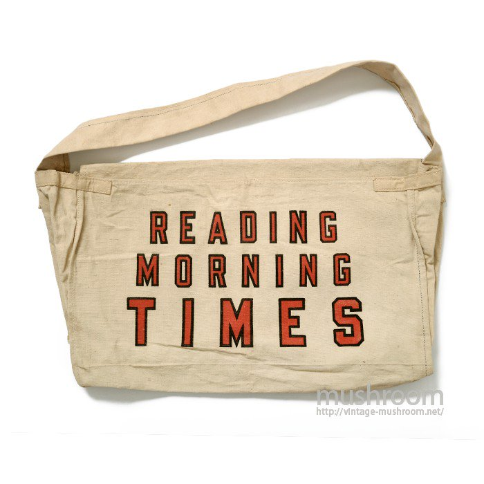 TROY NEWSPAPER CANVAS BAG( DEADSTOCK )