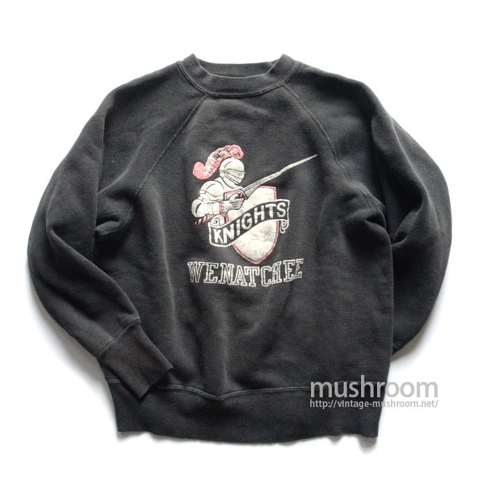 OLD COLLEGE COLOR FLOCK PRINT SWEAT SHIRT