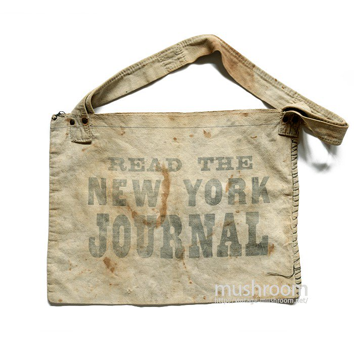 NEW YORK JOURNAL NEWSPAPER CANVAS BAG