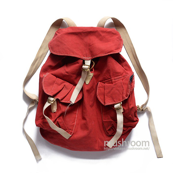 OLD RED CANVAS RUCKSACK