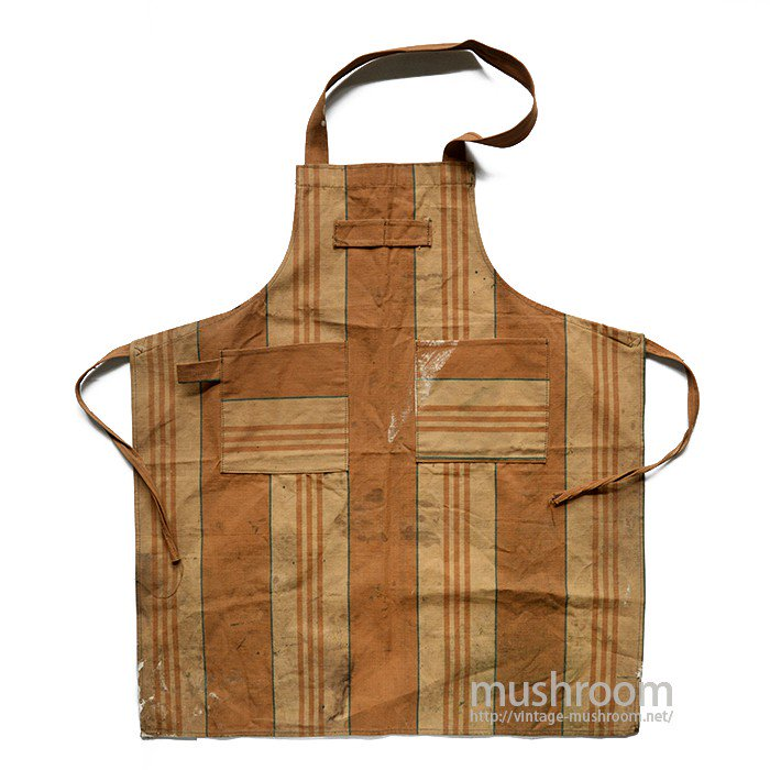 OLD MULTI STRIPE CANVAS WORK APRON