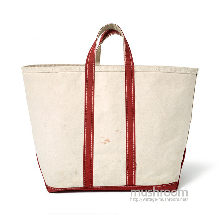 OLD CANVAS TOTE BAG( NATURAL AND RED)