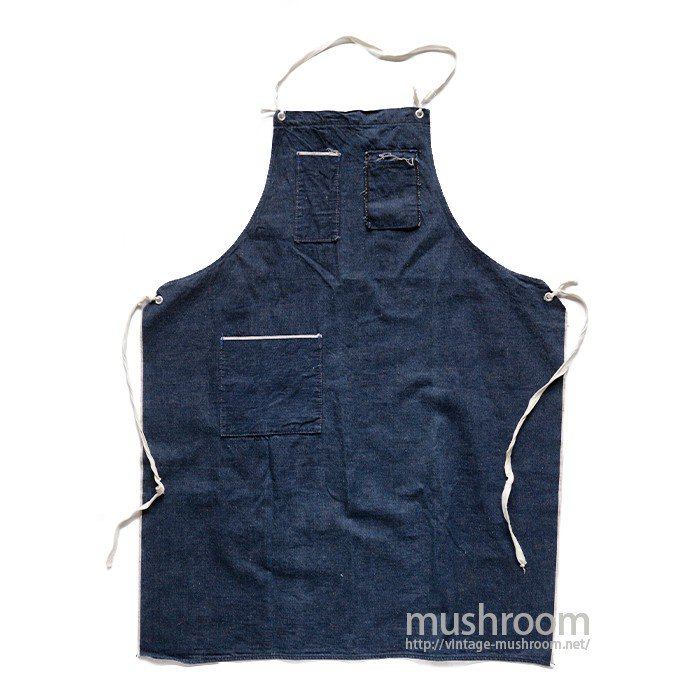 OLD DENIM WORK APRON( MINT )