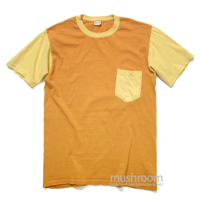TOWNCRAFT TWO-TONE POCKET T-SHIRT