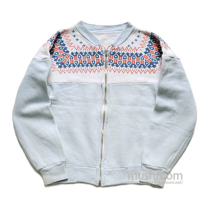 OLD SNOW PATTERN FULL-ZIP SWEAT SHIRT( KID'S )