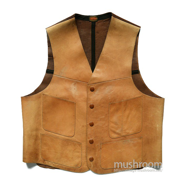 L.L.BEAN FOUR POCKET LEATHER VEST( 38/MINT)