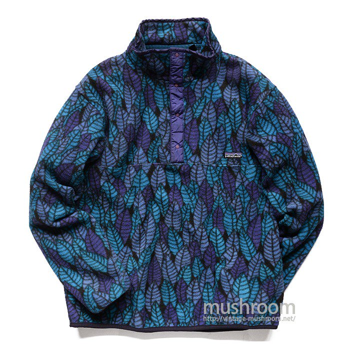 PATAGONIA SNAP-T FLEECE JACKET( L/LEAF PATTERN )