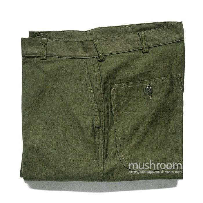 U.S.MILITARY UTILITY COTTON TROUSER( 32-32/DEADSTOCK/1 )