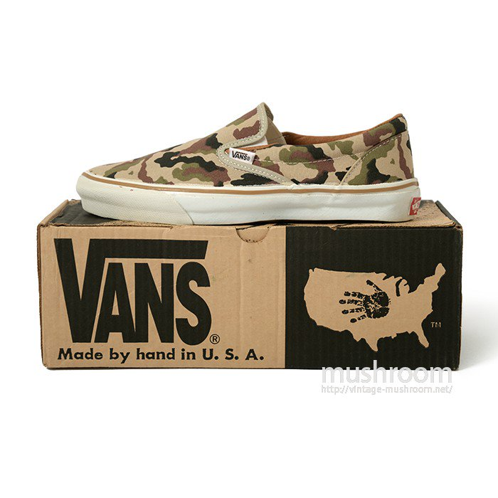 VANS SLIP-ON CANVAS SHOES( 9.5/DEADSTOCK )