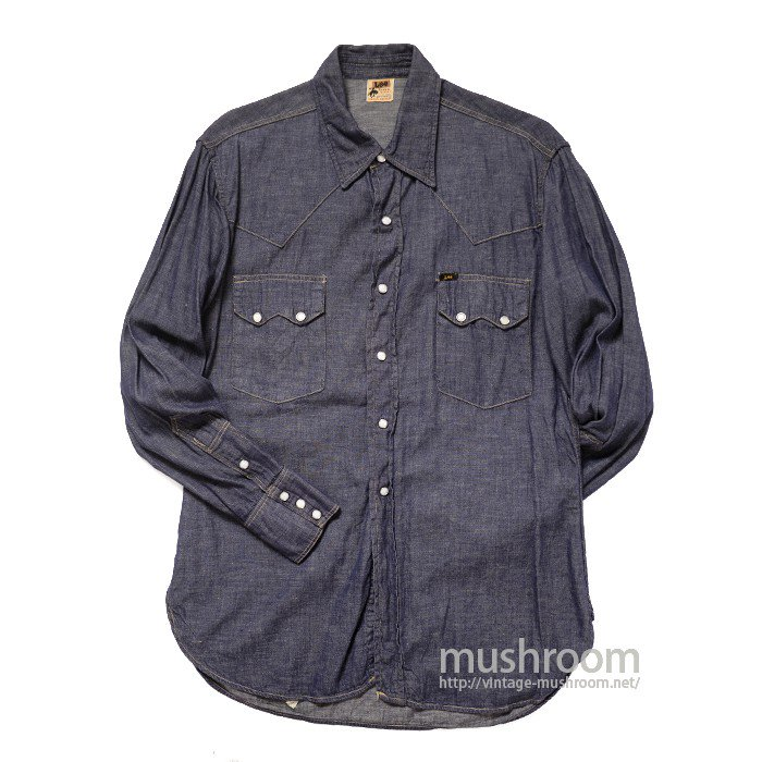 LEE RIDER DENIM WESTERN SHIRT( 16 1/2-M/MINT )