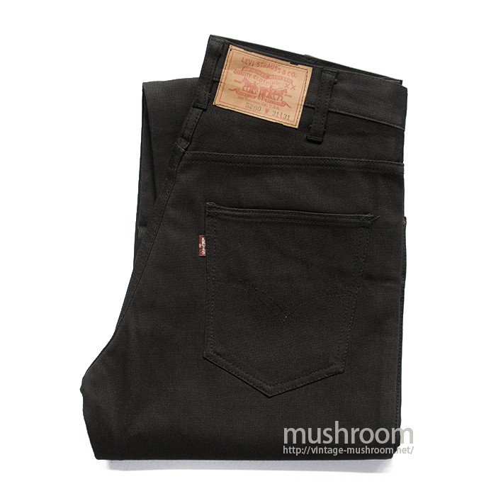 LEVI'S 5200 BIGE BLACK PIQUE PANTS( W31L31/MINT )