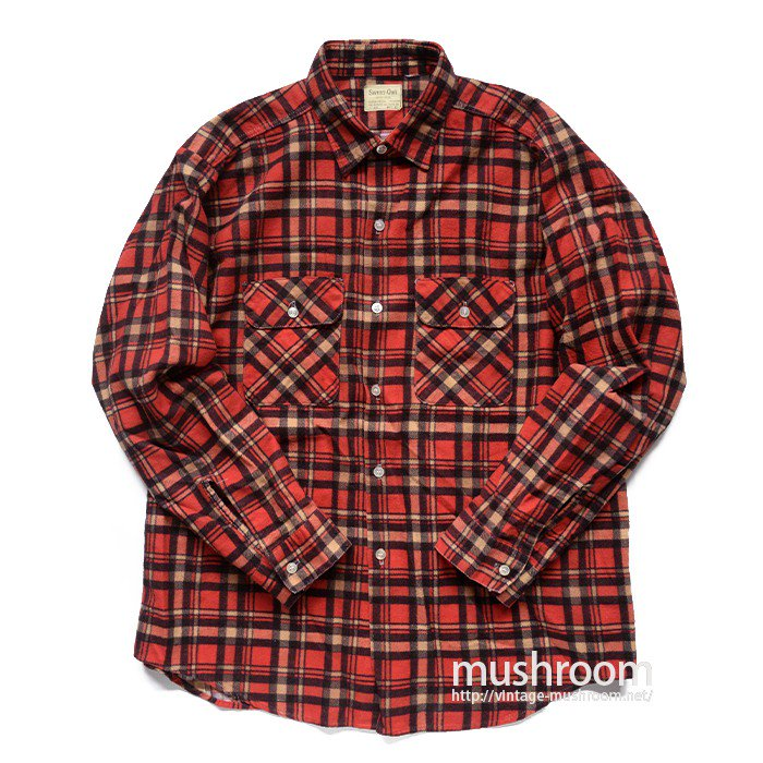 SWEET ORR PLAID PRINT FLANNEL SHIRT( 17/ONE-WASHED )