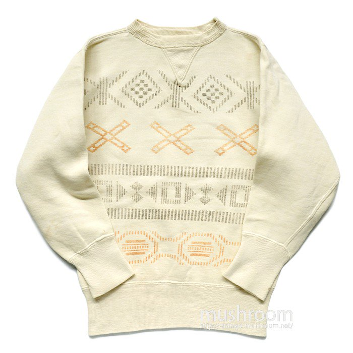 OLD NAVAJO PRINTED W/V SWEAT SHIRT