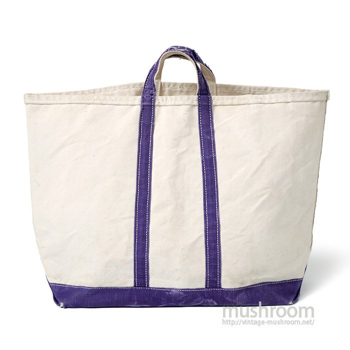 OLD CANVAS TOTE BAG( NATURAL AND PURPLE)