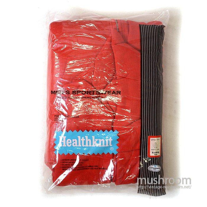 HEALTHKNIT FULL-ZIP SWEAT HOODY( XL/RED/DEADSTOCK )