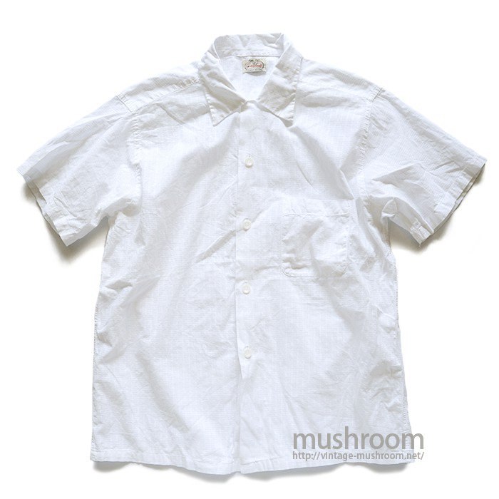 CUSTOM CRAFT WHITE COTTON S/S BOX SHIRT( MINT )