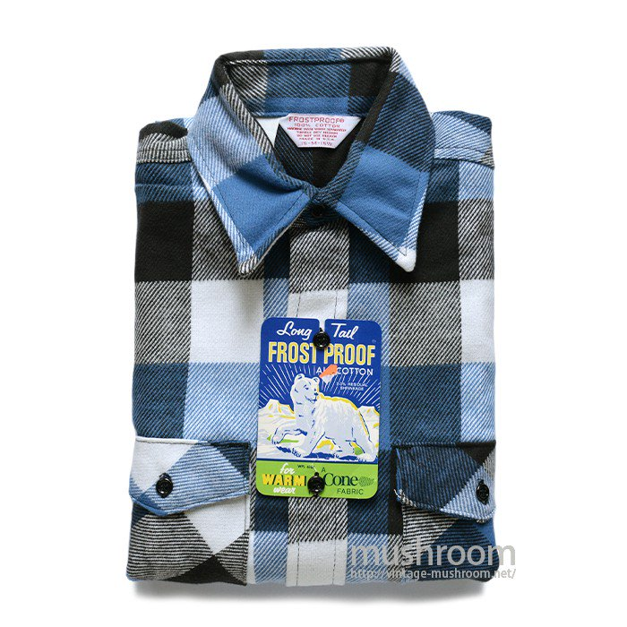 FROST PROOF PLAID FLANNEL SHIRT( M/DEADSTOCK )