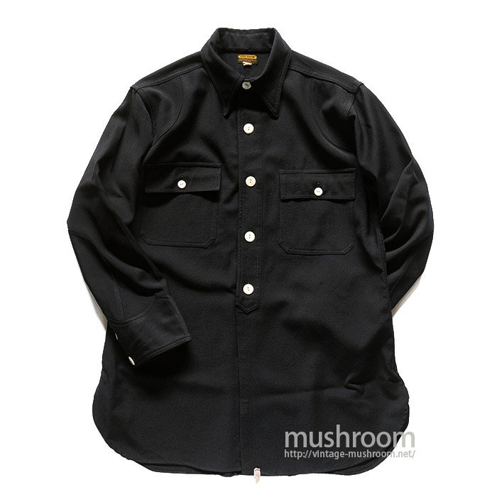 OLD BLACK WOOL WORK SHIRT