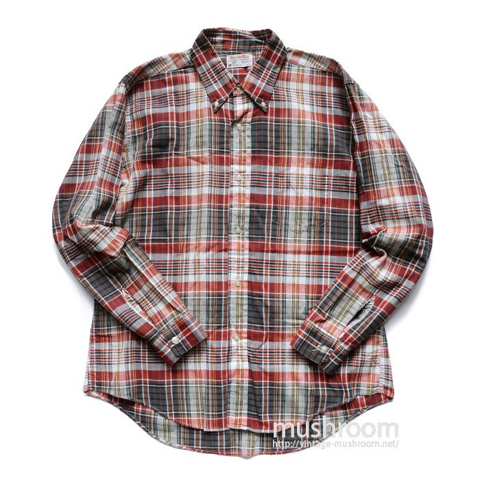 TRUVAL PLAID COTTON L/S BD SHIRT( L/MINT )