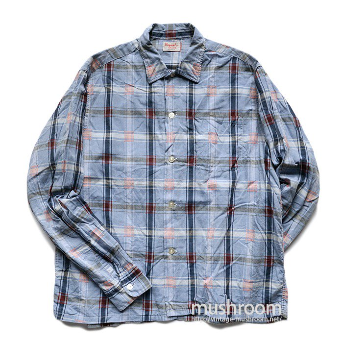 DUMONT PLAID COTTON L/S BOX SHIRT( L/MINT )