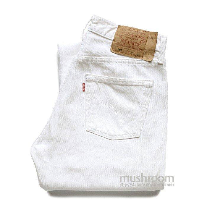 LEVI'S 501 WHITE JEANS( W30/L30 )