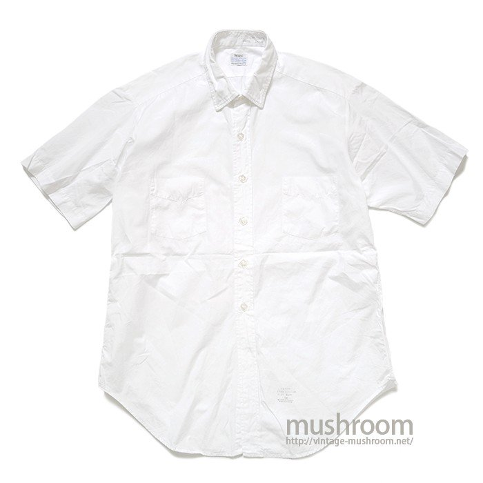 SEARS WHITE COTTON S/S SHIRT( 16/MINT )