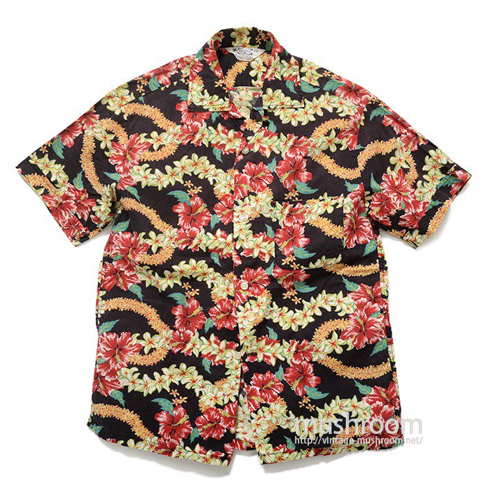 PILGRIM BLACK COTTON HAWAIIAN SHIRT