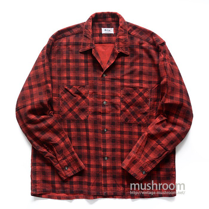 OLD PRINT PLAID FLANNEL SHIRT( M/MINT )