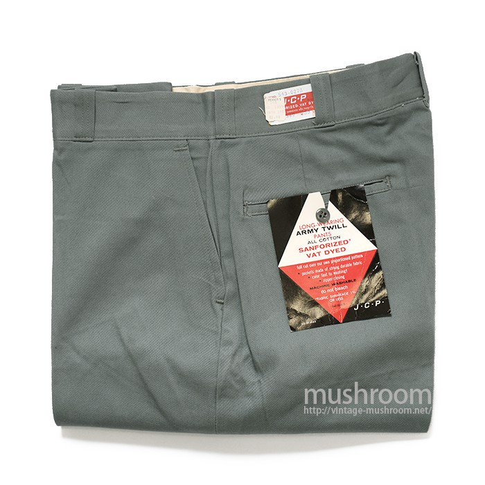 JCP ARMY TWILL WORK PANTS( 33/29/DEADSTOCK )