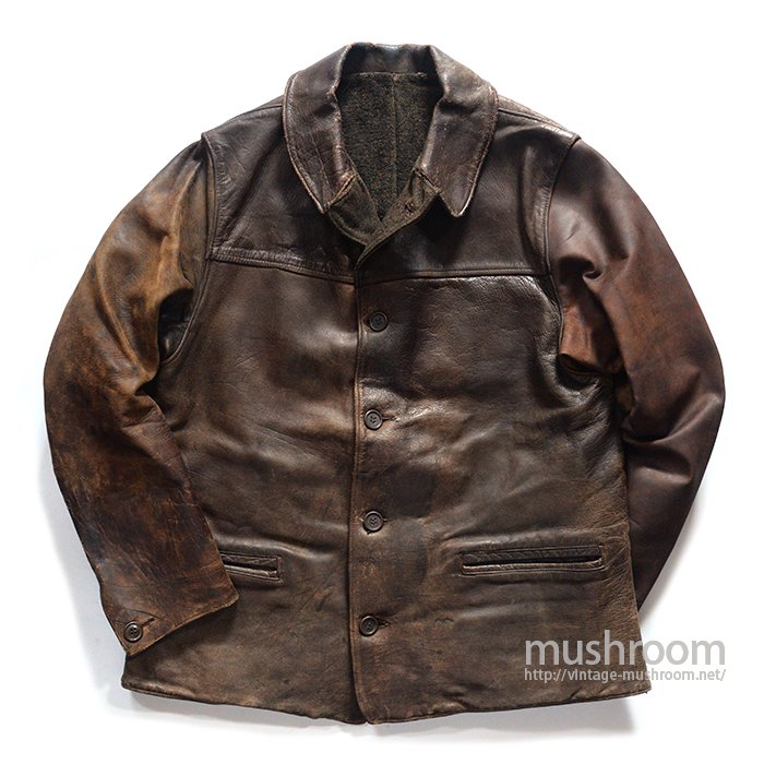 FIELD&STREAM SINGLE BREASTED BROWN HORSEHIDE CAR COAT