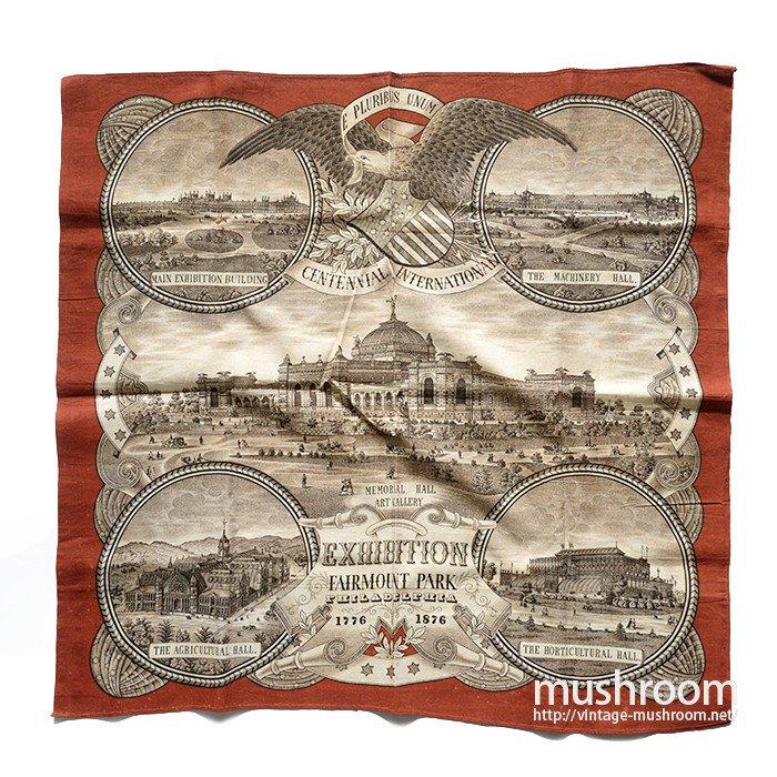 1876's PHILADELPHIA EXIBISHION BANDANA( DEADSTOCK )