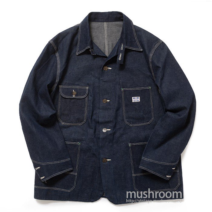MW PIONEER DENIM COVERALL WITH CHINSTRAP( 44/DEADSTOCK )